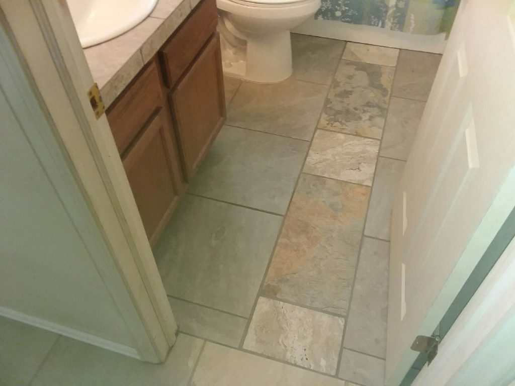 Geo's Guest Bath Flooring (Done)