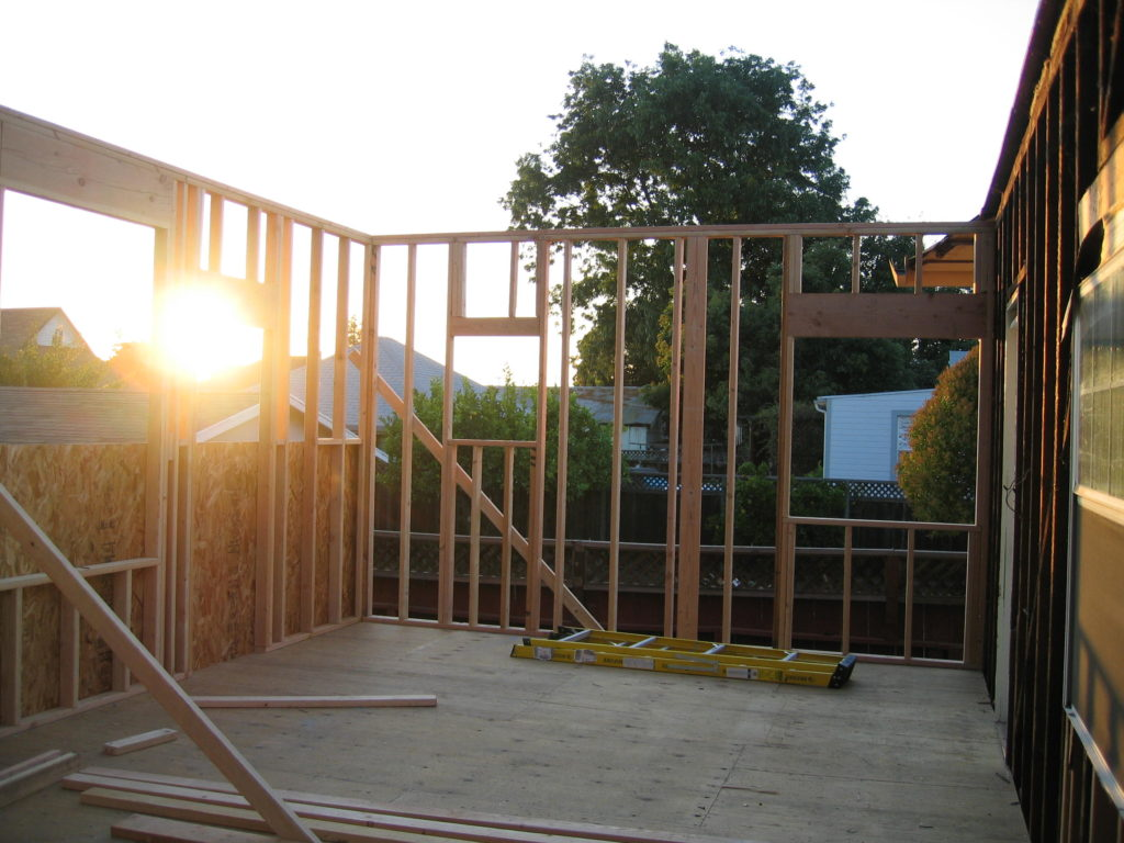 Den's 500 Sq. Ft. Ext. Wall Framing