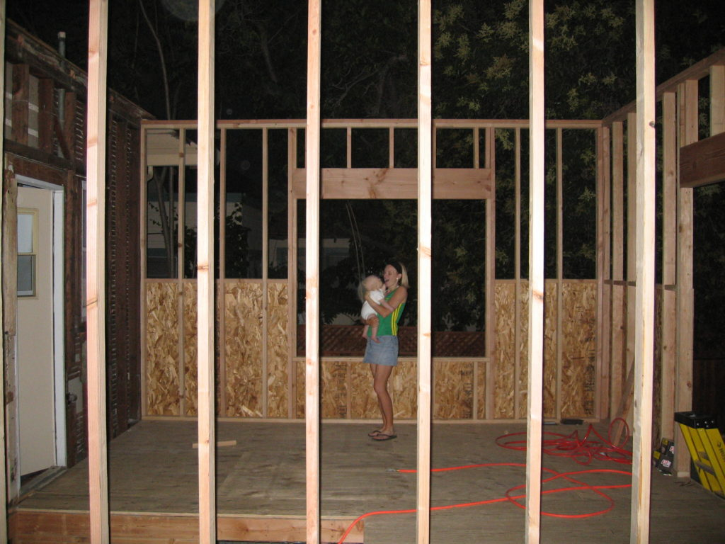 Den's 500 Sq. Ft. Ext. Walls Framed