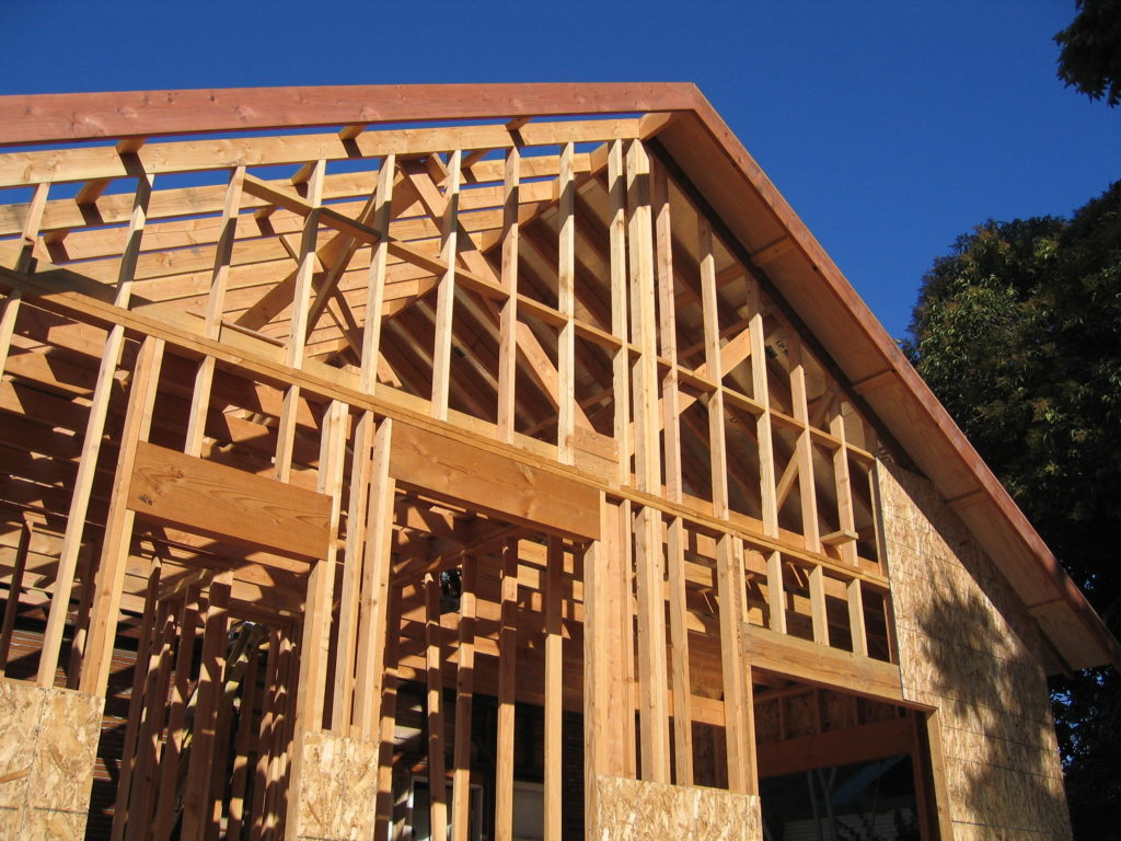 Dens' Ext. Framing Completed