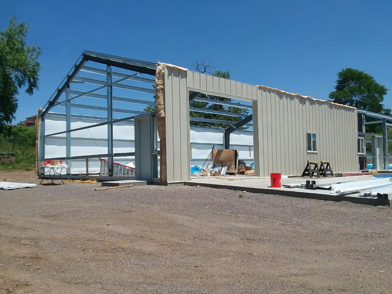 George Was Superintendent & Hands-On 'Working Foreman' On This Steel Building
