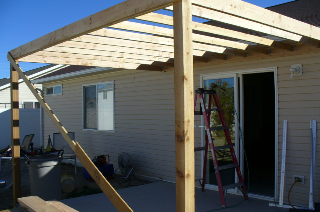 G's Patio Awning Framing